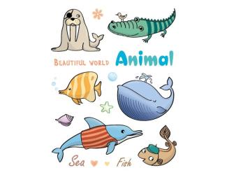 Razítka gelová - Gelová razítka - Vodní svět - delfín, velryba, ...