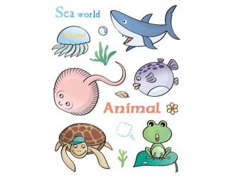 Razítka gelová - Gelová razítka - Mořský svět - žralok, želva, rejnok, ...