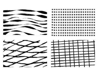Gelová razítka - textura - geometrie