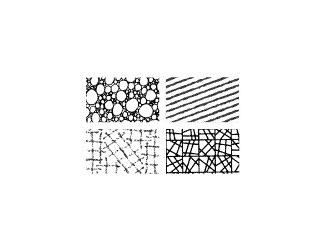 Gelová razítka - textura - geometrie I