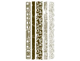 Razítka gelová - Bordury s texty