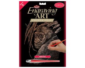 Škrabací obrázek - Opice