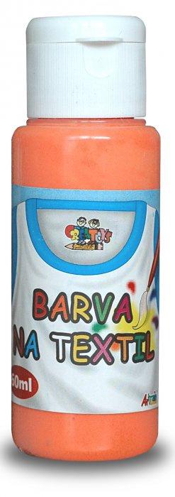 Barva na textil 60ml - oranžová (pale orange)