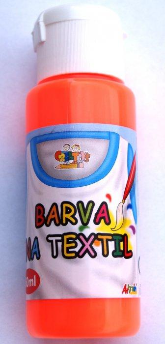 Barva na textil 60ml - fluorescent oranžová (f.orange)