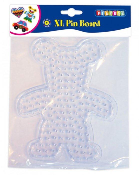Deska pro zažehlovací korálky - medvídek