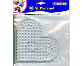 Deska pro zažehlovací korálky XL - srdíčko