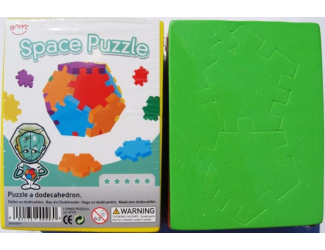 Hlavolamy 6 ks v balení - Vesmír (Space Cube), obtížnost 5+