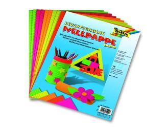 Vlnitý papír neonové barvy, sada 10 listů, 25x35xcm
