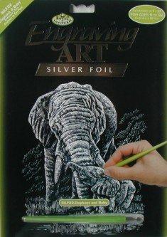 ROYAL and LANGNICKEL Stříbrný vyškrabovací obrázek - Sloni