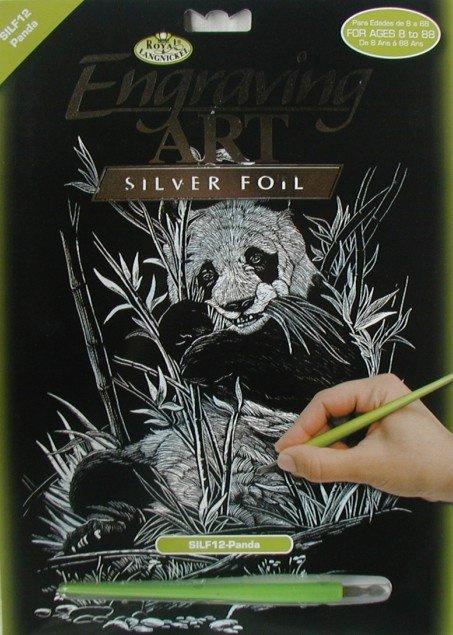 ROYAL and LANGNICKEL Stříbrný vyškrabovací obrázek - Panda
