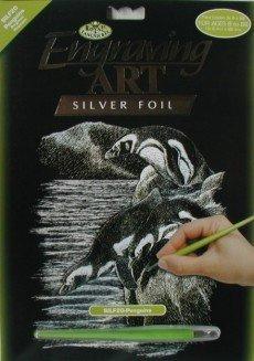 ROYAL and LANGNICKEL Stříbrný vyškrabovací obrázek - Tučňáci