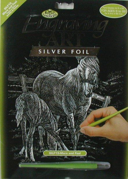 ROYAL and LANGNICKEL Stříbrný vyškrabovací obrázek - Koně