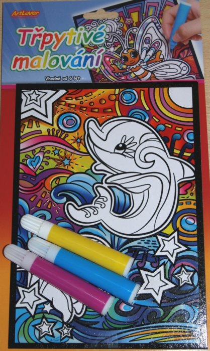 Třpytivé malování - Delfíni