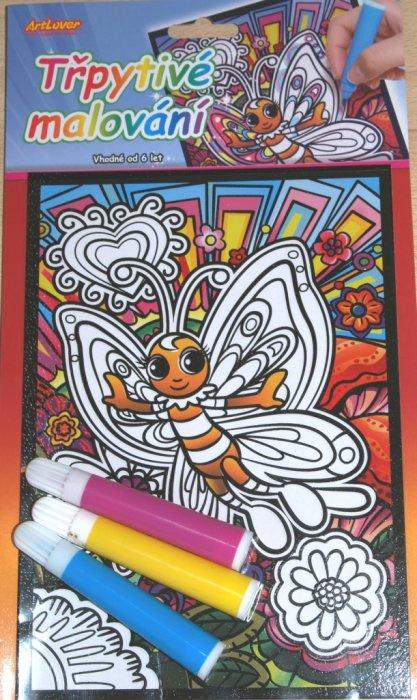Třpytivé malování - Motýl
