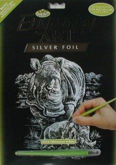 ROYAL and LANGNICKEL Stříbrný vyškrabovací obrázek - Nosorožci