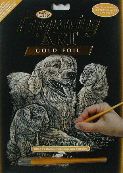 Škrabací obrázek- Psi- zlatý retrívr