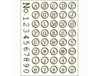 Gelová razítka - Písmenka a číslice - v kroužku