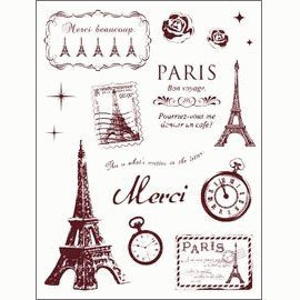 Gelová razítka - Paříž - velká