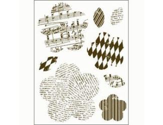 Gelová razítka - Kytky a stonky s motivy