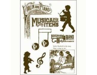 Gelová razítka - Malí muzikanti + texty