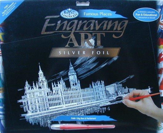Seškrabovací obrázek- Big Ben a Parlament
