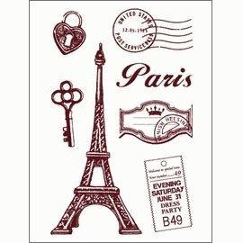 Gelová razítka - Paříž - malá