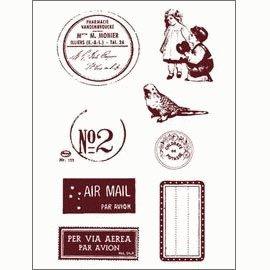 Gelová razítka - Poštovní razítko,známky,štítky,...