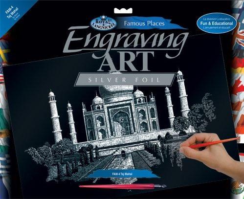 Seškrabovací obrázek- Taj Mahal