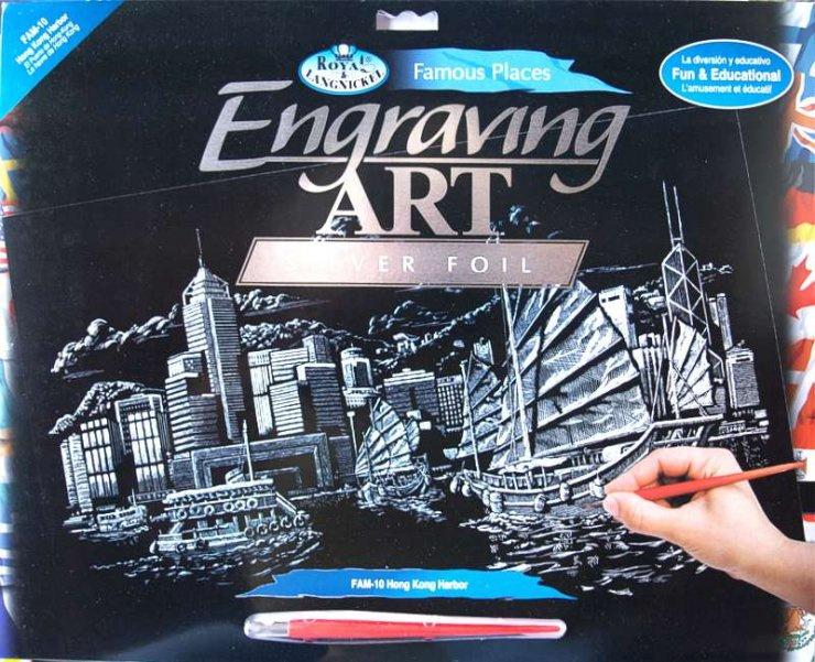 Seškrabovací obrázek- Hong Kong