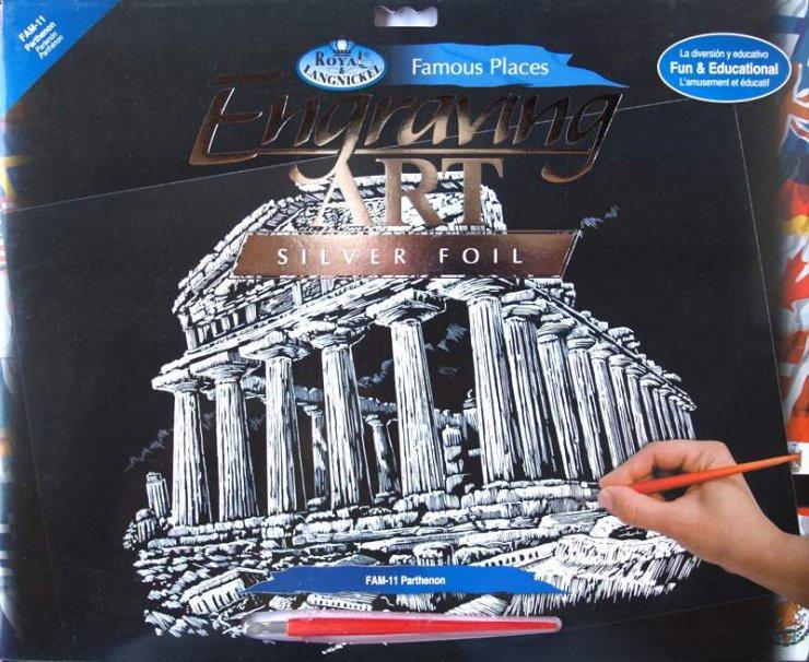Seškrabovací obrázek- Atény