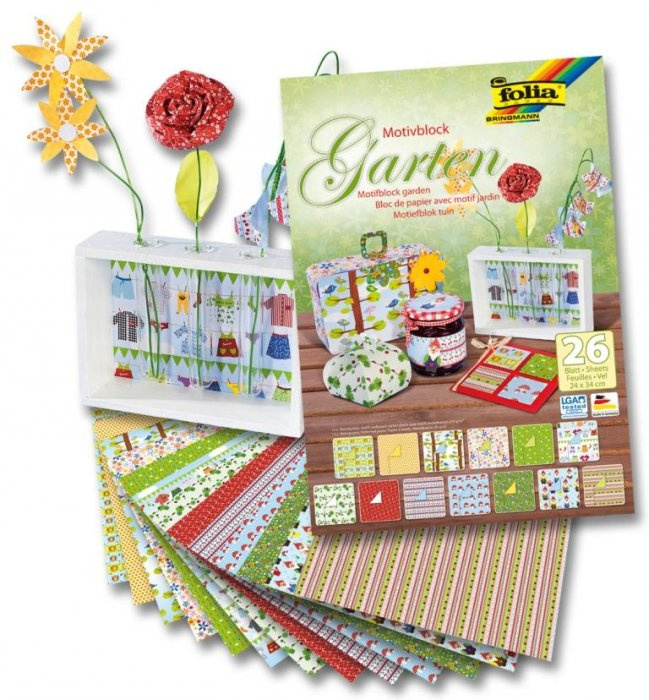 Blok s motivy zahrada, 26 listů