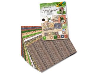Blok s motivy reliéfů a struktur, 26 listů