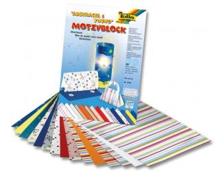 Blok s abstraktními motivy, 30 listů, 270 g, 24x34 cm