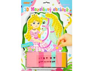 3D mozaikový obrázek - Koník s princeznou