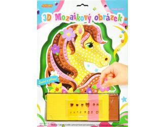 3D mozaikový obrázek - Žlutý koník