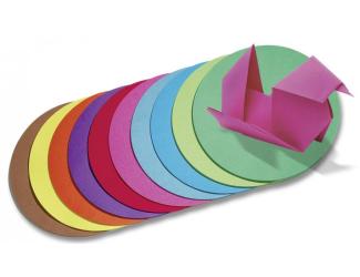 Origami barevný papír, pr.15cm, 100ks