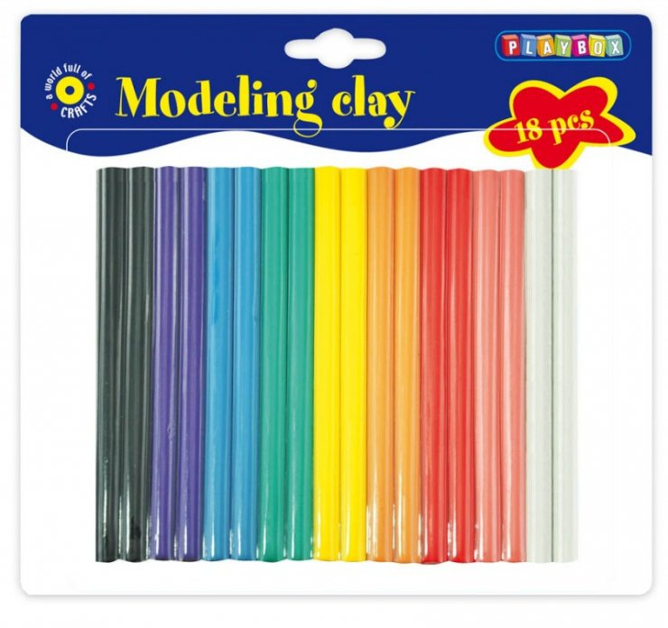 Modelovací hmota - 18ks, 9 barev
