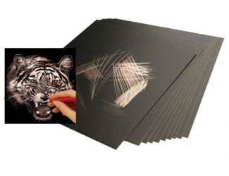 Škrabací folie měděná 30,5 x 22,9 cm 10 ks