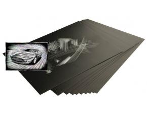 Škrabací folie holografická 22,9 x 15,2 cm 10 ks