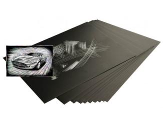 Škrabací folie holografická 30,5 x 22,9 cm 10 ks