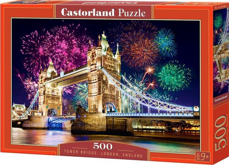 Puzzle Castorland 500 dílků - Ohňostroj u Tower Bridge