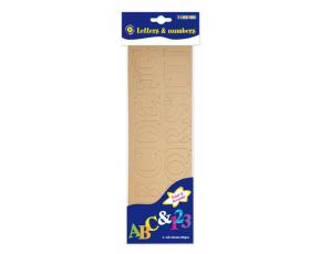 Abeceda a čísla z kartonu, 6 aršíků