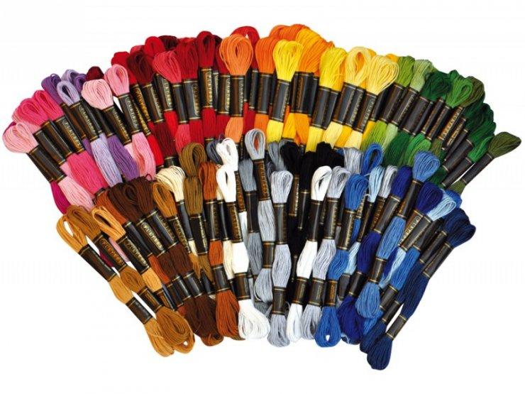 Bavlnky 100ks x8m 42 barev