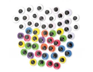 Oči 300ks mix barev ,průměr 15mm