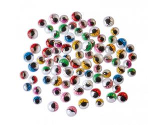 Oči barevné 230ks průměr 7a 10mm