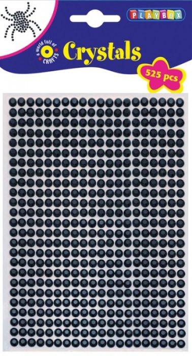 Lepicí kamínky 525ks, průměr 5mm černé