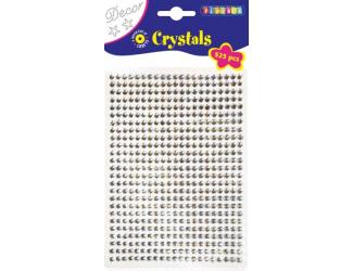 Lepicí kamínky 525ks, průměr 5mm stříbrné