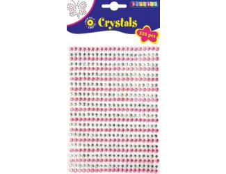 Lepicí kamínky 525ks, průměr 5mm stříbrné, růžové