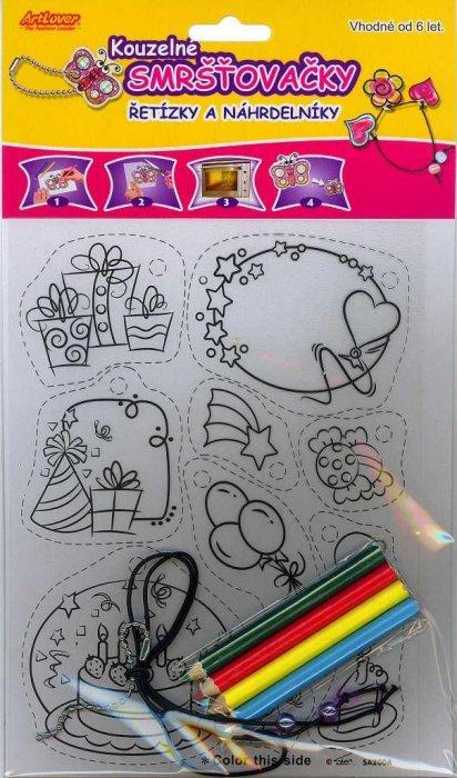 Smršťovací obrázek- Řetízky a náhrdelníky, mix 5 motivů - ASA-SA100*200
