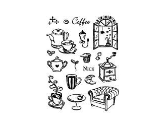 Razítka - Káva o páté